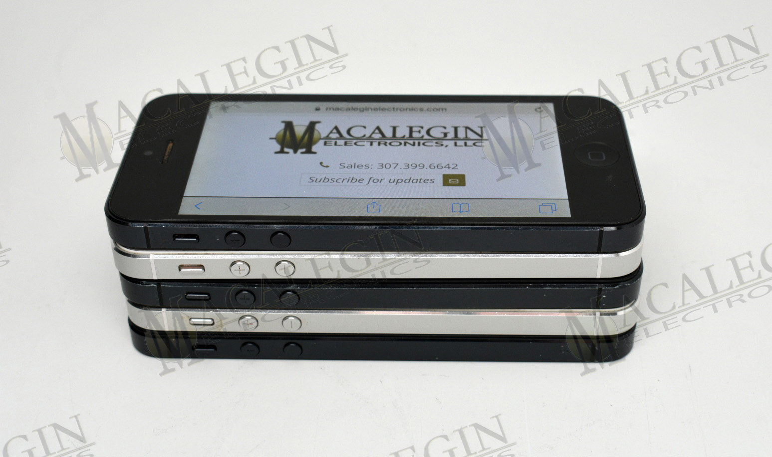 Used APPLE A1428 IPHONE 5 16GB UNLOCKED in PGL condition for sale from Macalegin Electronics at $45 a piece.